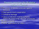 themes raised by the predator strike in yemen