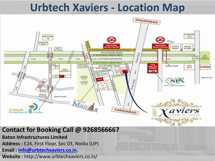 Urbtech xaviers location map