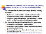 approach to develop and to promote the faculty teams in the scs of the universities in china