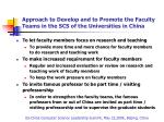 approach to develop and to promote the faculty teams in the scs of the universities in china10