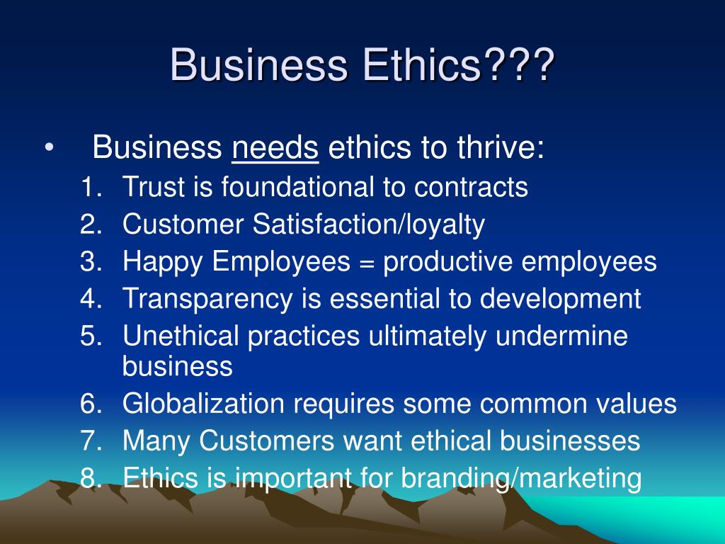 Business Ethics???