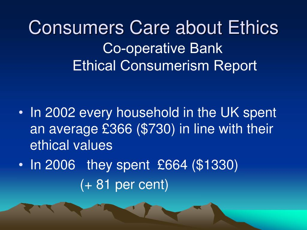 Consumers Care about Ethics