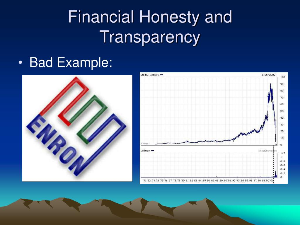 Financial Honesty and Transparency