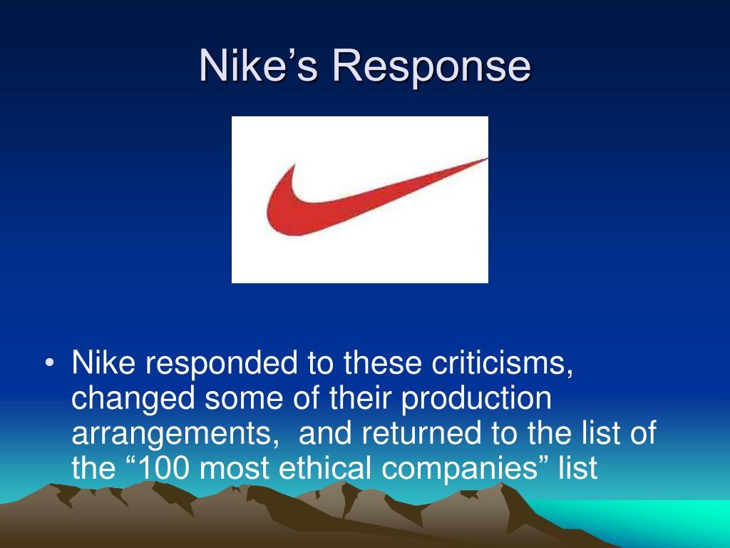 Nike's Response