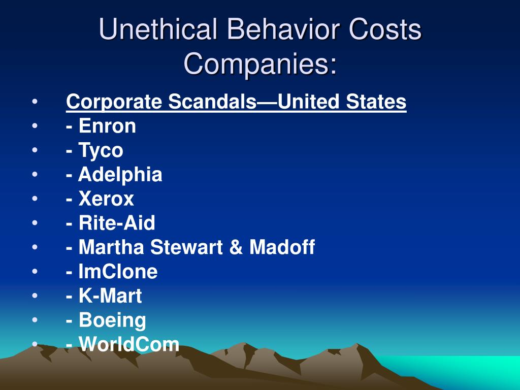 Unethical Behavior Costs Companies: