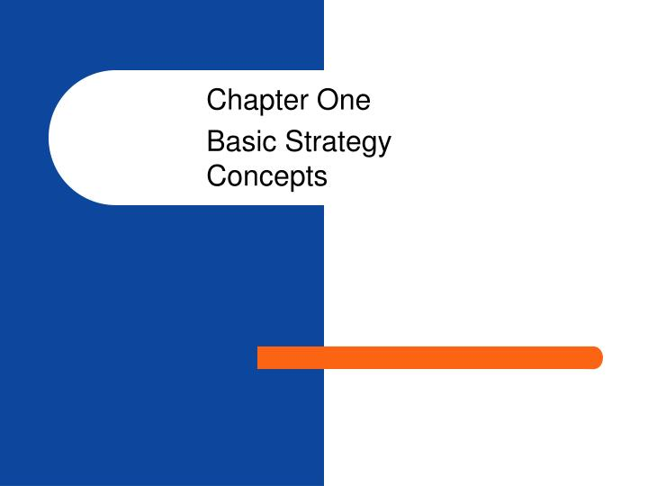 Chapter one basic strategy concepts