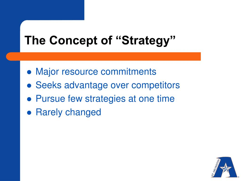 "The Concept of ""Strategy"""