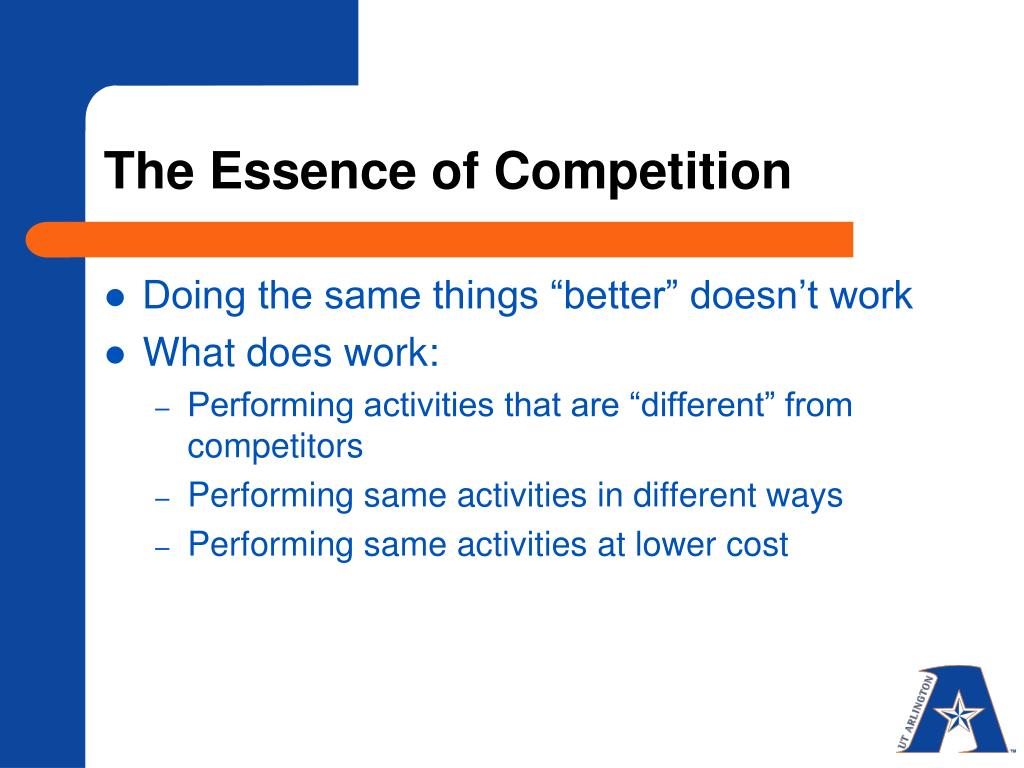 The Essence of Competition