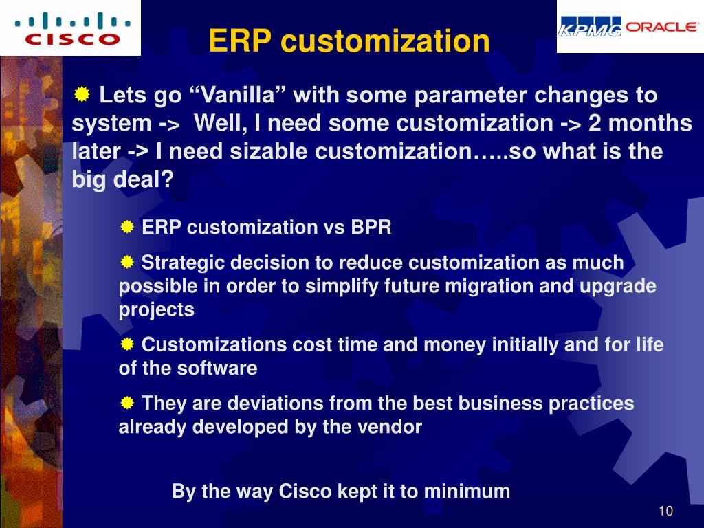 ERP customization