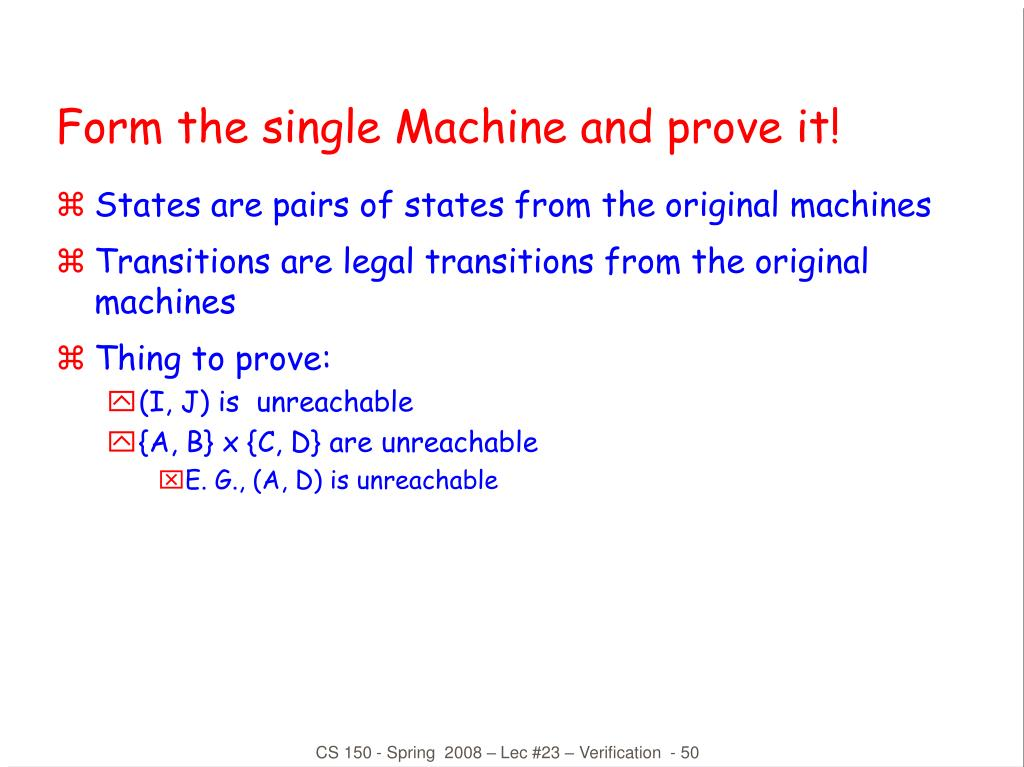 Form the single Machine and prove it!