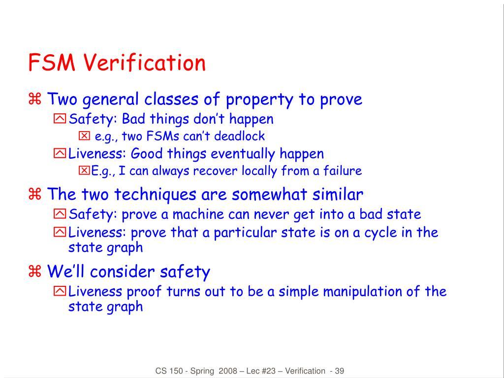 FSM Verification