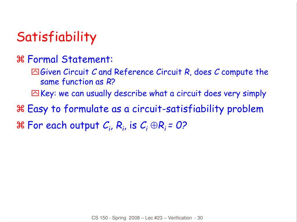 Satisfiability