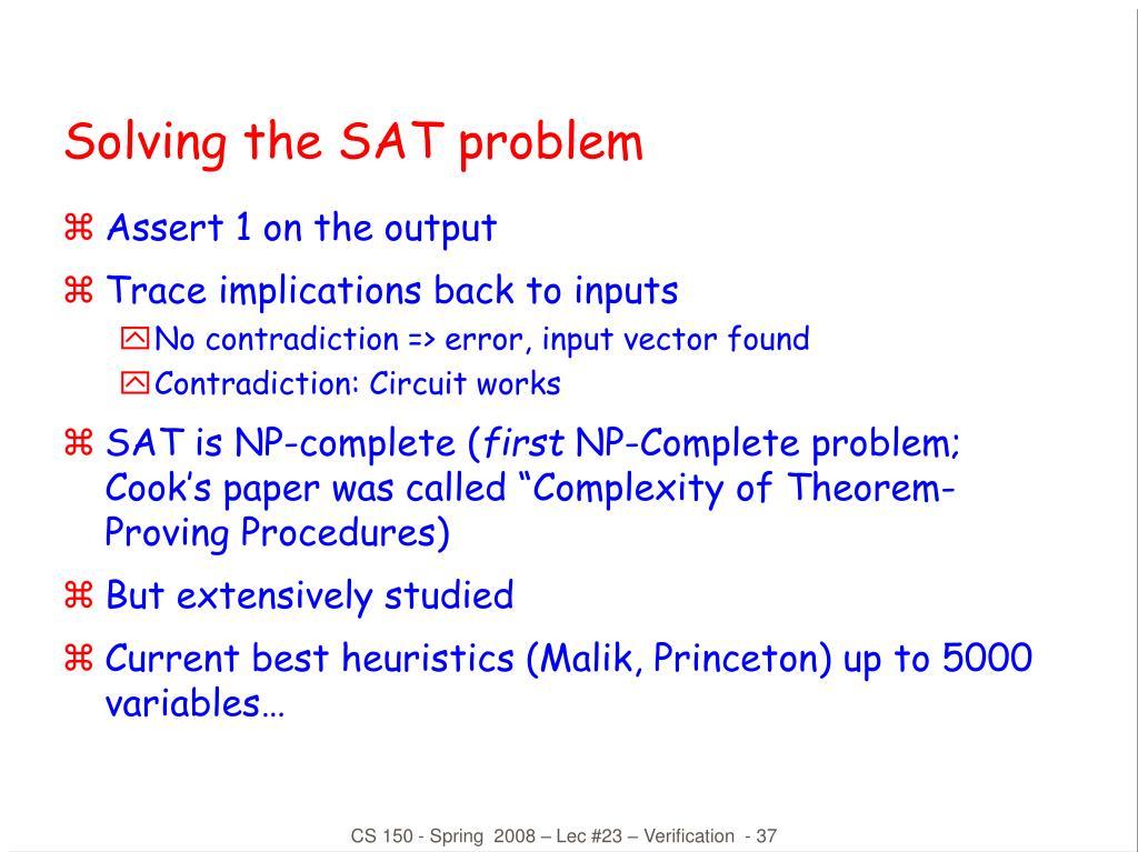 Solving the SAT problem