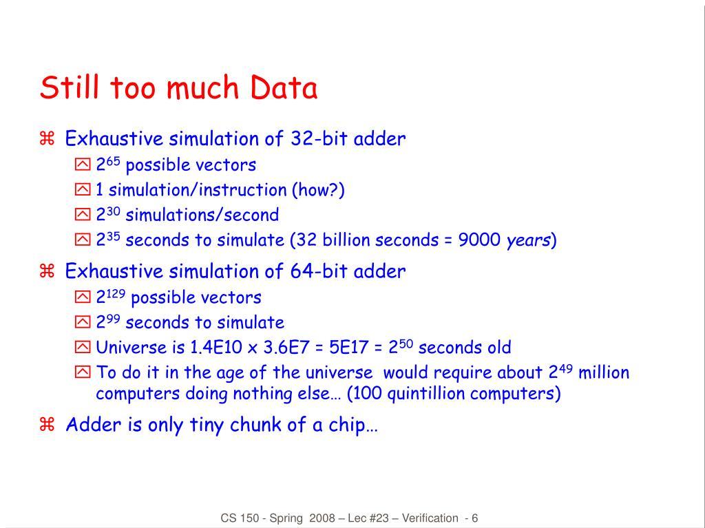 Still too much Data