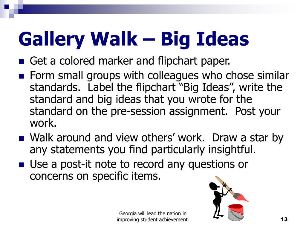 Gallery Walk – Big Ideas