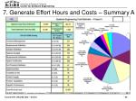 7 generate effort hours and costs summary a