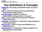 key definitions concepts