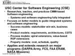 usc center for software engineering cse