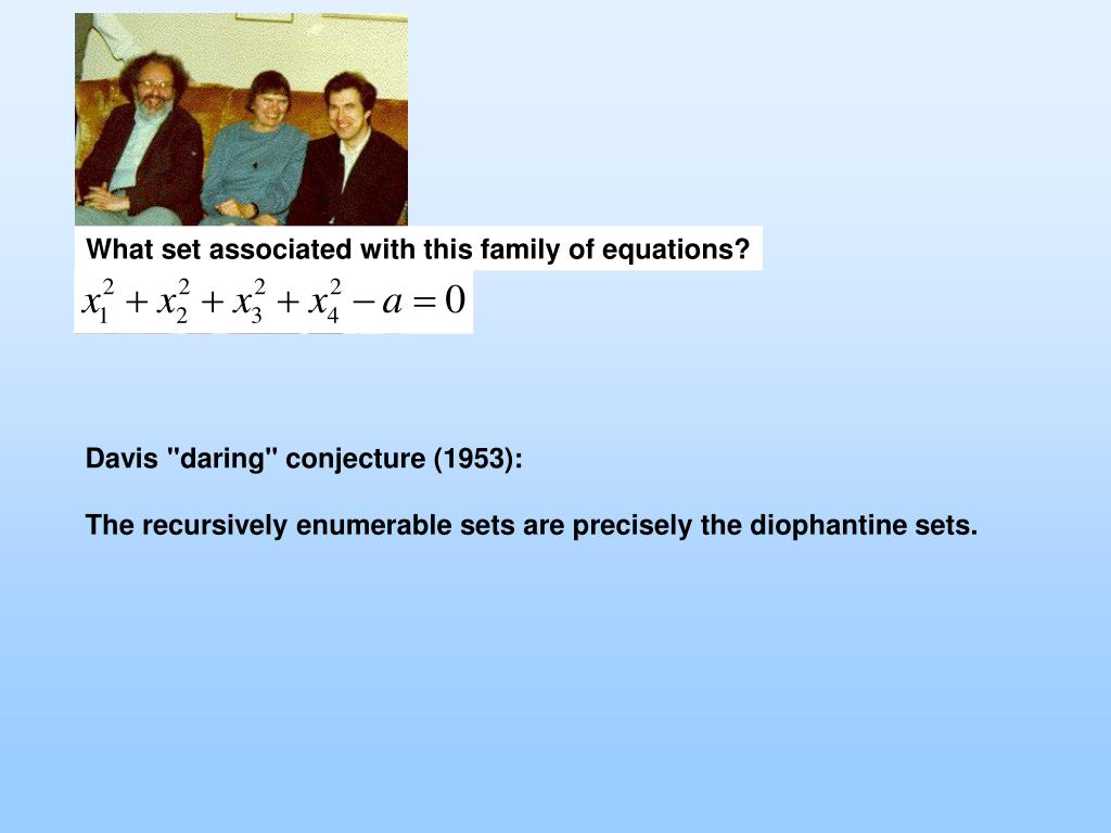 What set associated with this family of equations?