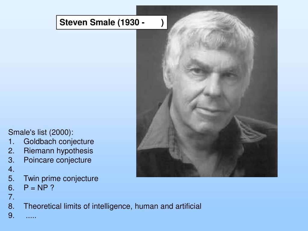 Steven Smale (1930 -       )