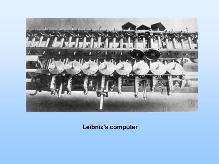 Leibniz's computer
