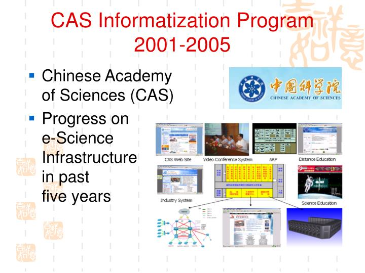 Cas informatization program 2001 2005