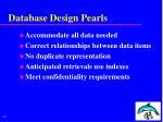 database design pearls