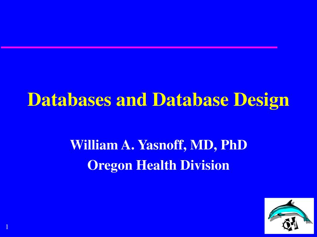 databases and database design l.