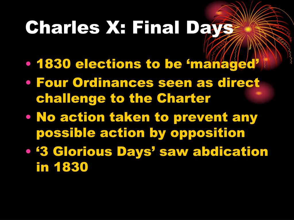 Charles X: Final Days