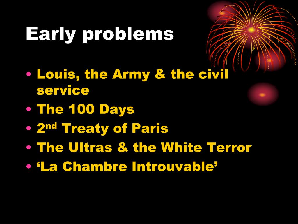 Early problems