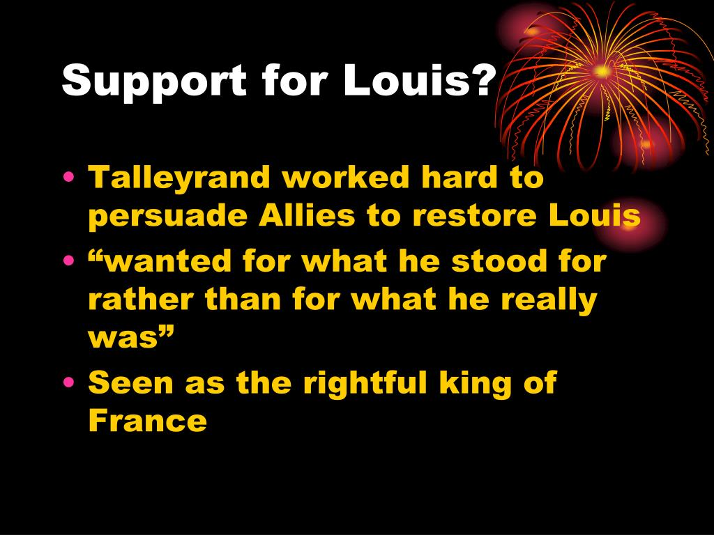 Support for Louis?