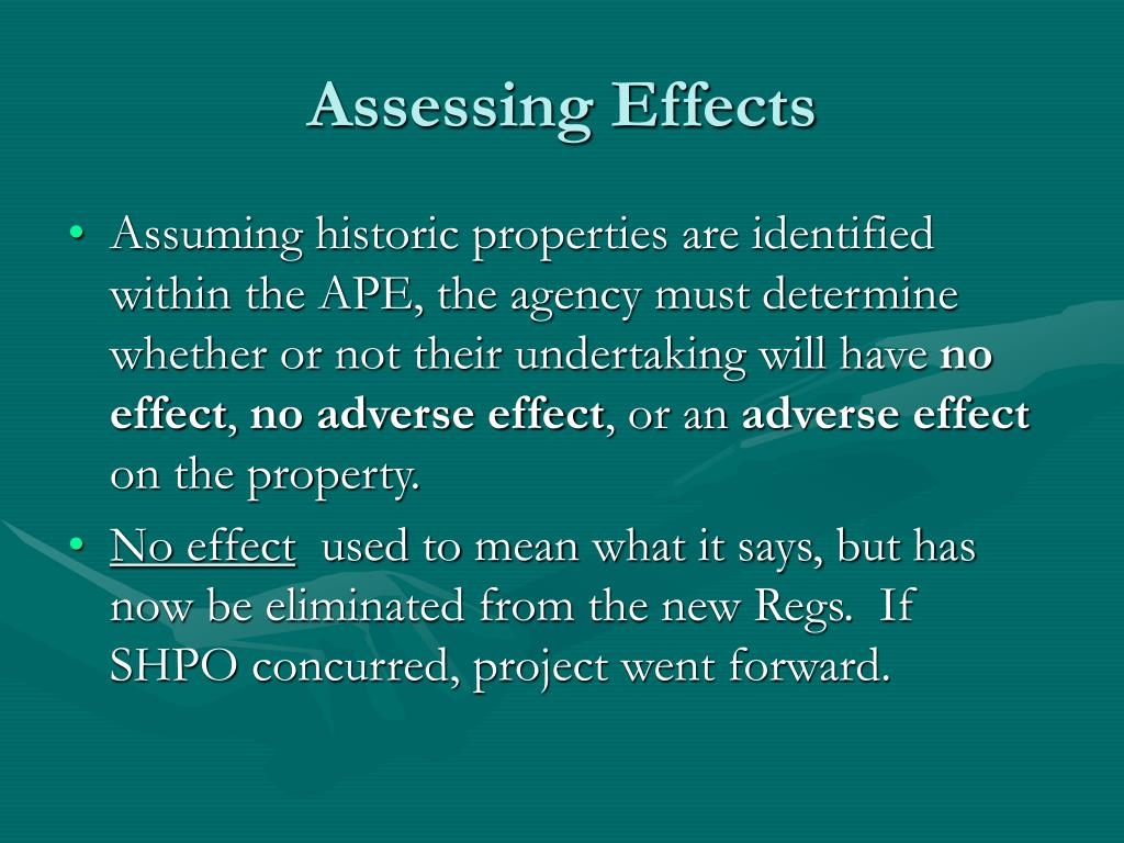 Assessing Effects