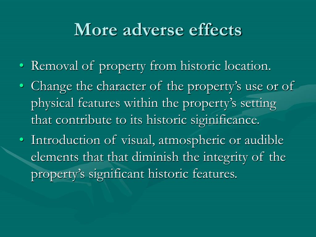 More adverse effects