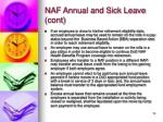 naf annual and sick leave cont