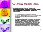 naf annual and sick leave