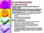 naf business based action notices