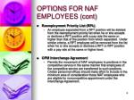 options for naf employees cont