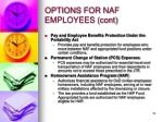 options for naf employees cont2