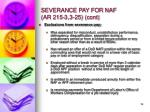 severance pay for naf ar 215 3 3 25 cont