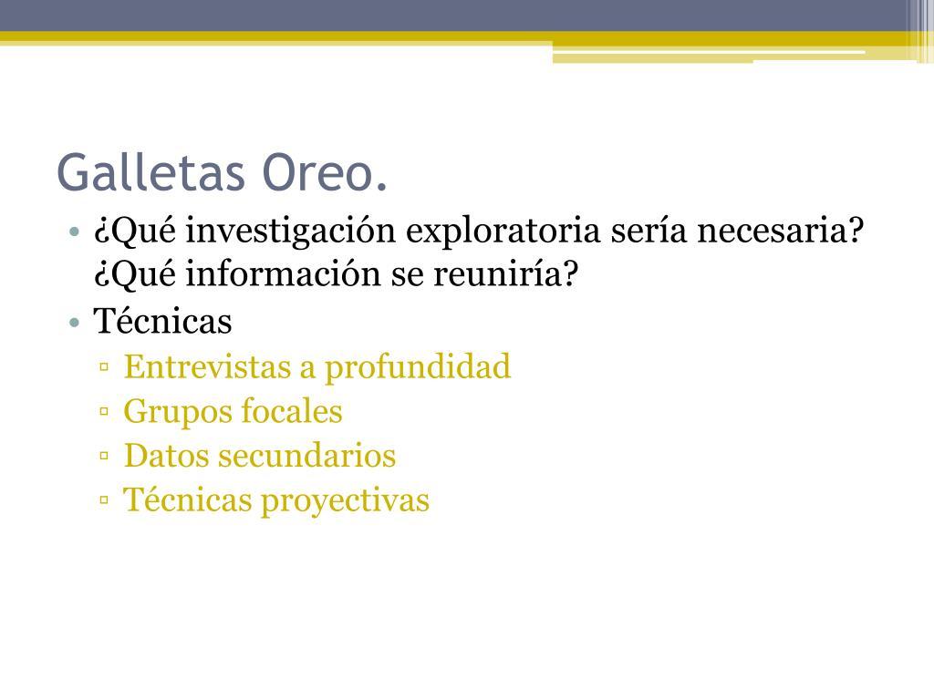 Galletas Oreo.