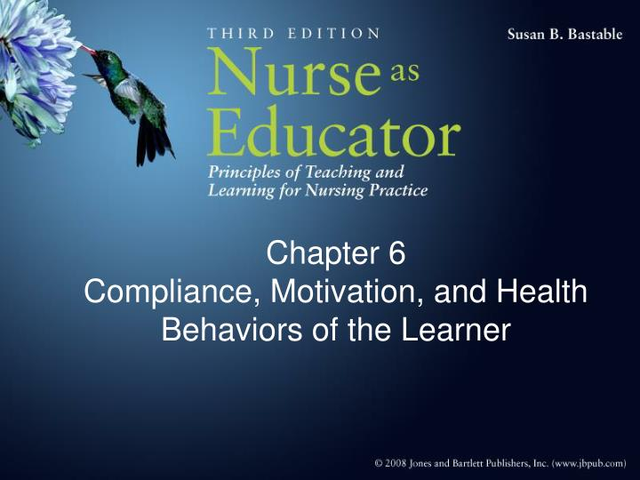 chapter 6 compliance motivation and health behaviors of the learner n.