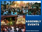 assembly events
