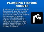 plumbing fixture counts