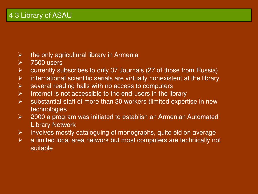 4.3 Library of ASAU