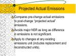 projected actual emissions