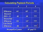 calculating payback periods53
