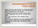reasonability s in fuel force