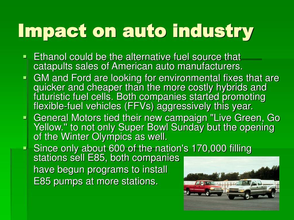 Impact on auto industry