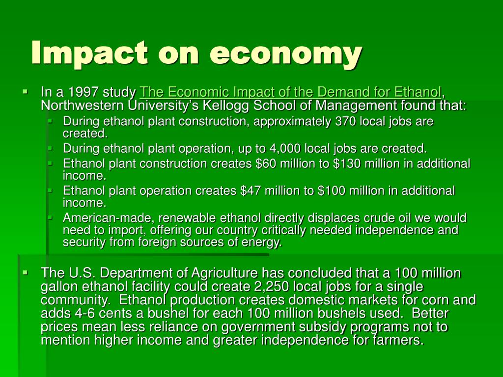 Impact on economy
