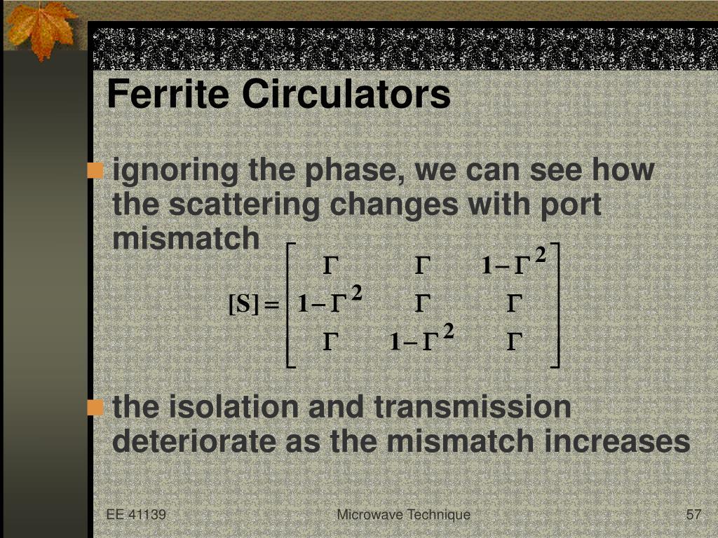 Ferrite Circulators